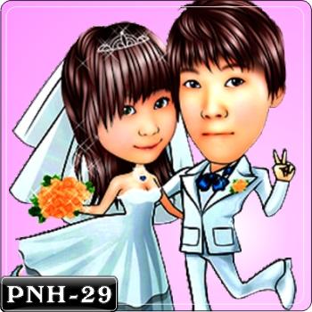情侶雙人Q版漫畫-PNH-29